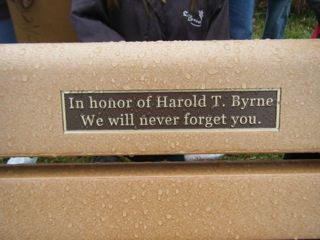 Harold Byrne Memorial Plaque